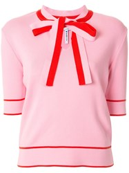 Msgm Pussybow Collar Short Sleeved Top 60