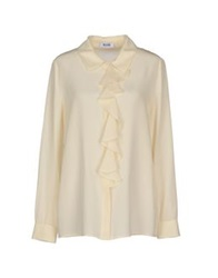Moschino Cheap And Chic Moschino Cheapandchic Shirts Ivory