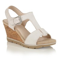 Lotus Shaliene Wedge Sandals White