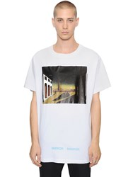 Off White Chirico Printed Cotton Jersey T Shirt