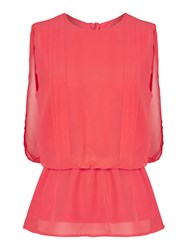 Y.A.S Sleeveless Top With Waist Detail Orange