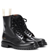 Common Projects Leather Combat Boots Black