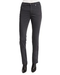 Armani Collezioni Five Pocket Stretch Skinny Jeans Gray