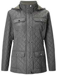 Four Seasons Polar Quilted Fleece Jacket Pewter