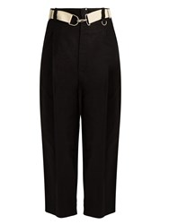 Yohji Yamamoto Cotton And Linen Blend Trousers Black