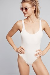 Anthropologie Solid And Striped Annie Marie One Piece Cream