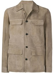 Salvatore Santoro Light Buttoned Jacket Brown