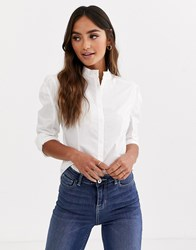 Glamorous Structured Shirt In Cotton White