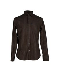 Trussardi Jeans Shirts Shirts Men Dark Brown