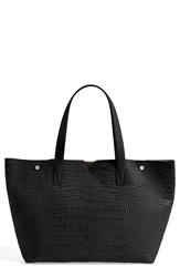 Vince 'Medium' Croc Embossed Leather Tote