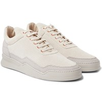 Filling Pieces Ghost Perforated Nubuck Sneakers Ecru