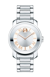 Movado 'Bold' Bracelet Watch 32Mm Silver Rose Gold