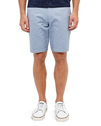 Ted Baker Herringbone Design Shorts Blue