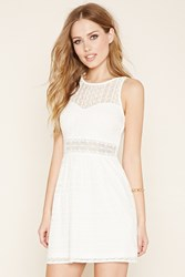 Forever 21 Ornate Lace Skater Dress