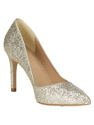 Phase Eight Lucie Glitter Point Heeled Shoes Yellow