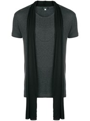 Unconditional Scarf Detail T Shirt Grey