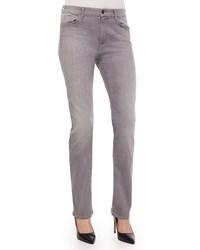 Jen7 Slim Straight Leg Jeans Light Gray Light Grey