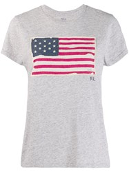 Polo Ralph Lauren Usa Flag T Shirt Grey