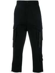 D.Gnak Cropped Technical Trousers Black