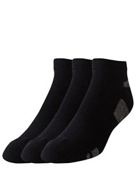Under Armour Lo Cut Socks 3 Pack Black