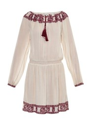 Talitha Embroidered Cotton Peasant Dress