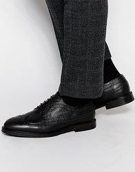 Selected Homme Benny Leather Brogue Shoes Black