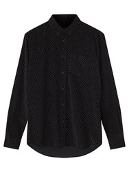 Jigsaw Spot Needle Corduroy Slim Fit Shirt Black