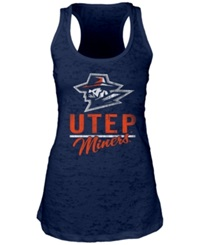 Blue 84 Women's Utep Miners Racerback Burnout Tank Top Navy