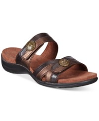 Easy Street Shoes Ashby Sandals Women's Brown Bronze