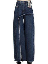 Diesel D Izzier Wide Leg Cotton Denim Jeans Blue
