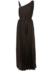 Ginger And Smart Depth Pleat Gown Brown
