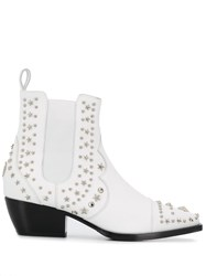 Philipp Plein Low Cowboy Boots White