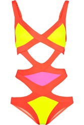 Agent Provocateur Mazzy Cutout Swimsuit Bright Yellow Orange