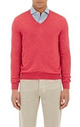 Barneys New York V Neck Sweater Red