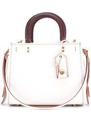 Coach Multiple Straps Tote White
