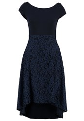 Swing Jersey Dress Dunkelblau Schwarz Blue