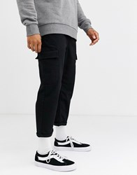 Brooklyn Supply Co. Co Track Fit Cargo Trousers In Black