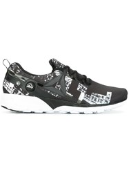 Reebok Abstract Print Lace Up Sneakers Black