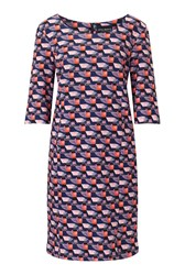 James Lakeland Printed Shift Dress Pink