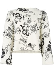 See By Chloe Floral Print Jumper Nude Neutrals