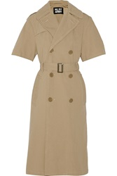 Nlst Double Breasted Belted Cotton Trench Coat