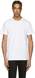 Naked And Famous Denim White Ring Spun T Shirt