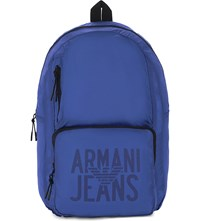 Armani Jeans Packaway Nylon Backpack Blue