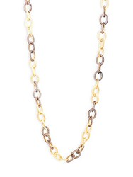 Azaara Crystal Chain Necklace Gold
