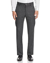 Hickey Freeman Tweed Slim Fit Trousers Charcoal
