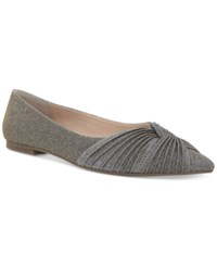 Nina Klaire Pointed Toe Evening Flats Women's Shoes Steel
