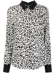Class Roberto Cavalli Leopard Print Loose Fit Shirt White