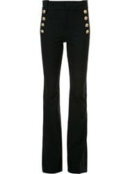 Derek Lam 10 Crosby Double Fastening Flared Trousers Black