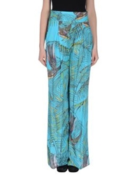Matthew Williamson Escape Casual Pants Turquoise