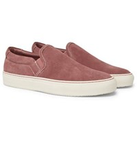 Common Projects Suede Slip On Sneakers Pink